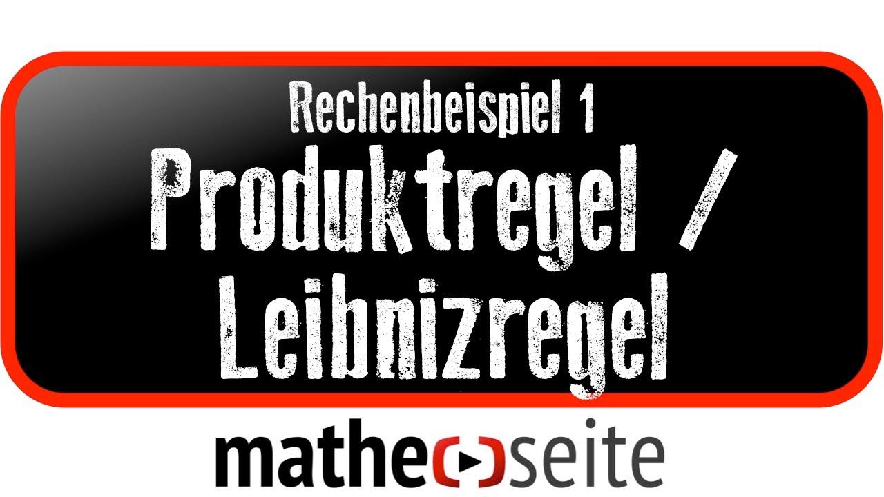 Mit der Produktregel (Leibniz-Regel) eine Funktion mit zwei Faktoren ...