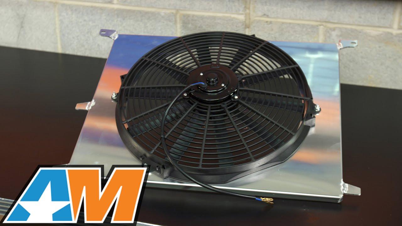 sr performance mustang universal 16 in high performance slim electric radiator fan w shroud 525039 79 19 all  [ 1280 x 720 Pixel ]