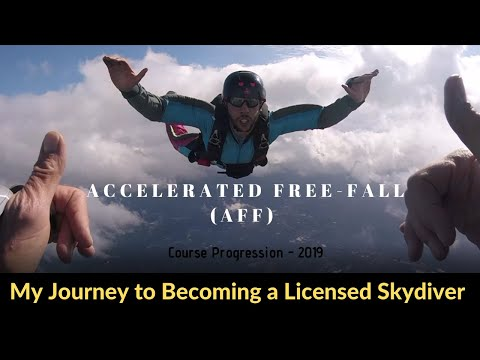 My Journey to Becoming a Licensed Skydiver (Accelerated freefall AFF Course Progression) 2019