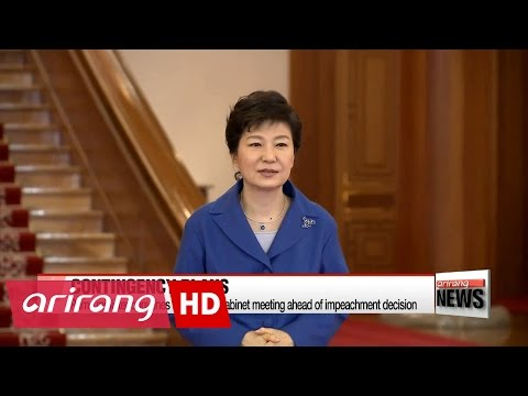 Cheong Wa Dae on impeachment: Watching without words