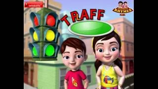Traffic Light Song | Nursery Rhymes for Children | Infobells