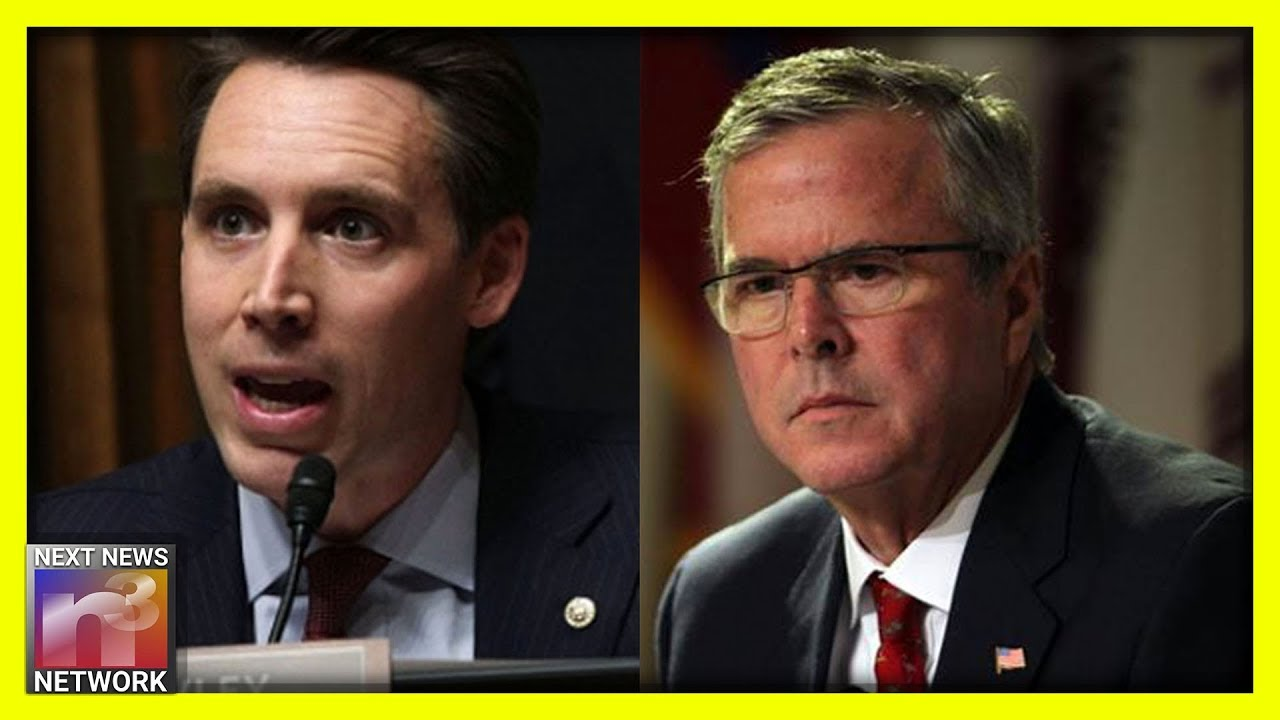 BRUTAL! Sen. Josh Hawley DUNKS on Jeb Bush over His Famous and Deranged Open Borders Quote