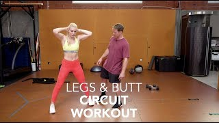 My Leg and Butt Tone-Up Circuit  Workout