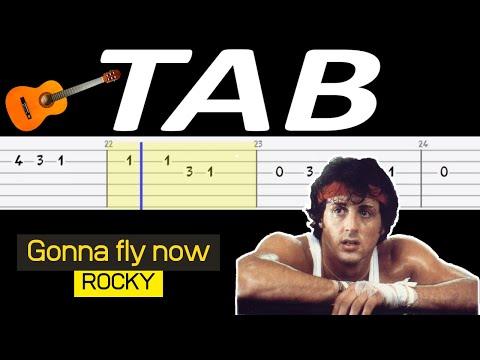 🎸 Gonna fly now (Rocky, Bill Conti) - melodia TAB (gitara) 🎸