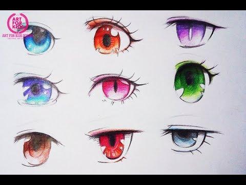 Vẽ mắt chibi và tô màu đơn giản