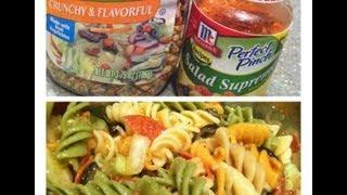 Cookw/sofia: Pepperoni & Cucumber Pasta Salad