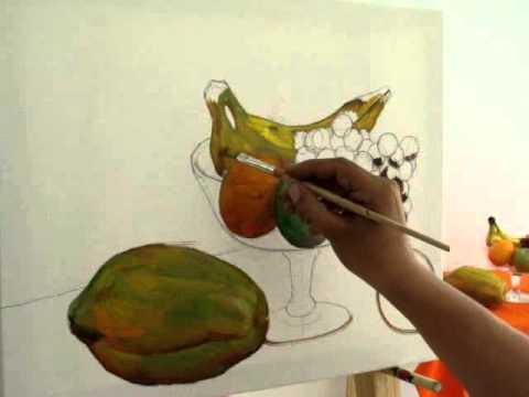 Como pintar un bodegon youtube - Como pintar cuadros faciles ...