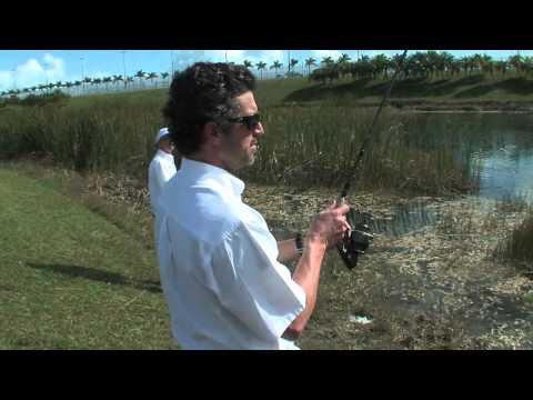 Patrick Dempsey goes Bass fishing with Bass 2 Billfish host,Peter Miller.