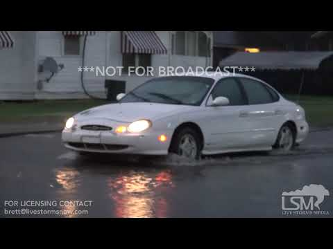 3-28-2018 Yazoo City, Ms Tornado warned storm produces torrential rain and flash flooding