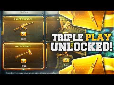 TRIPLE PLAY FREE DLC WEAPON SUPPLY DROP UNLOCKED.. (Black Ops 3 NEW TRIPLE PLAY Unlocked)