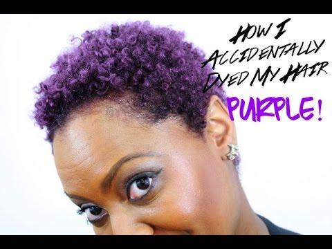 Purple Dye On Natural Hair