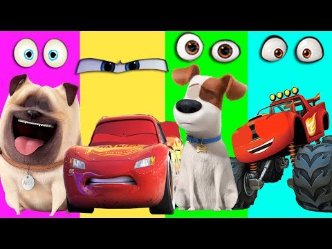 The Secret Life Of Pets Wrong Eyes Blaze Monster Machines Disney Cars 3 Mcqueen Finger Family Song