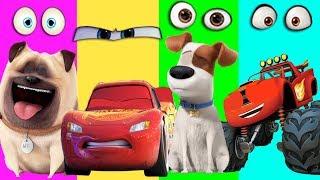 The Secret Life Of Pets Wrong Eyes Blaze Monster Machines Disney Cars 3 Mcqueen Finger Family Song