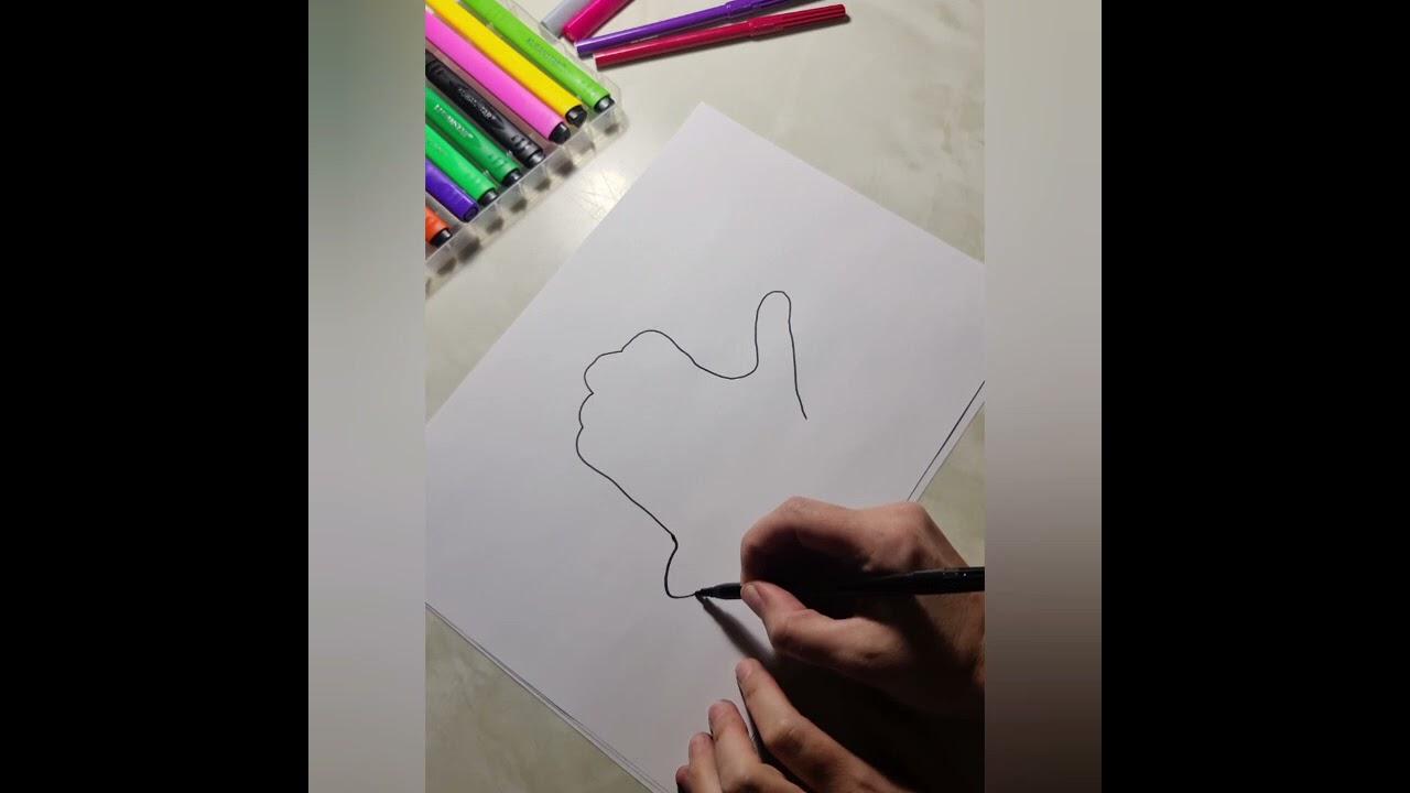 ЛАЙФХАК рисуем улитку с помощью руки/как быстро нарисовать улитку