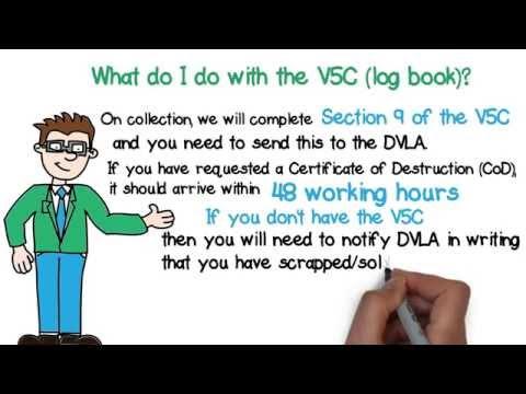 What do I do with the V5C/Log Book?
