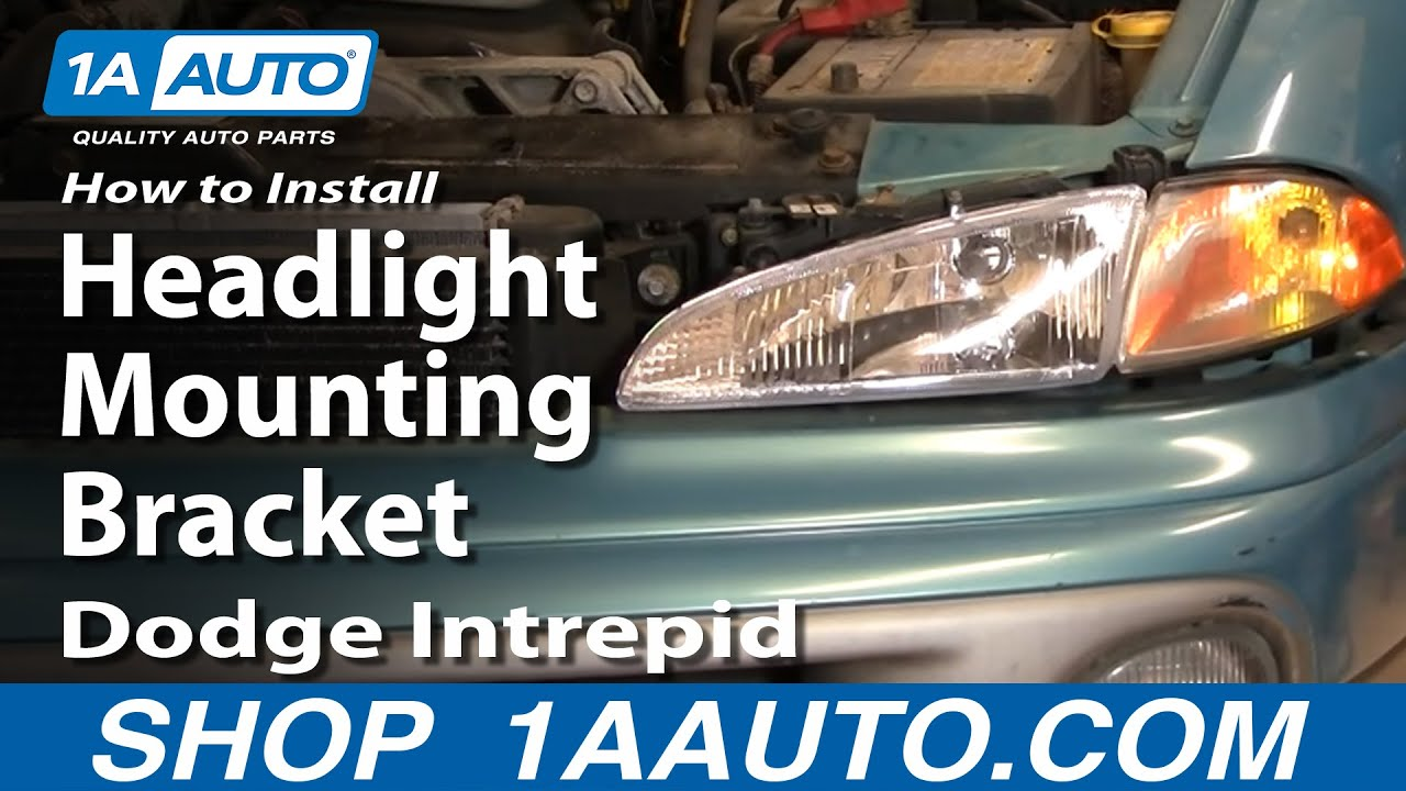 hight resolution of how to replace headlight mounting bracket 93 97 dodge intrepid