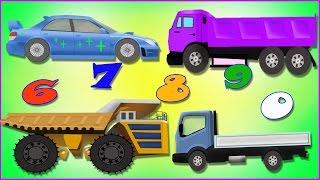 Веселые машинки,cars. Изучение цифр 6,7,8,9,0. Развивающие мультики для детей про машинки