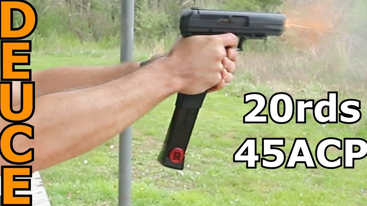 Extended Mag HiPoint 45 Review by Deuce and Guns