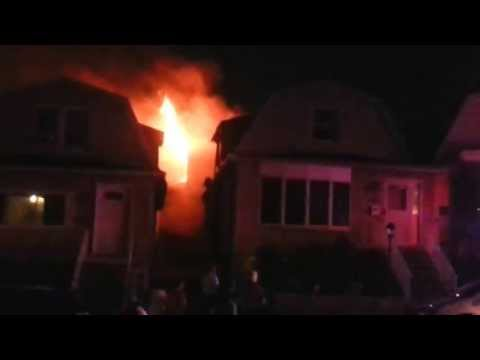 Kearny, NJ Third Alarm House Fire Elm St  5/31/13 P-1