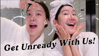 Get Unready With Us! Switching skincare routines with EuniUnni!