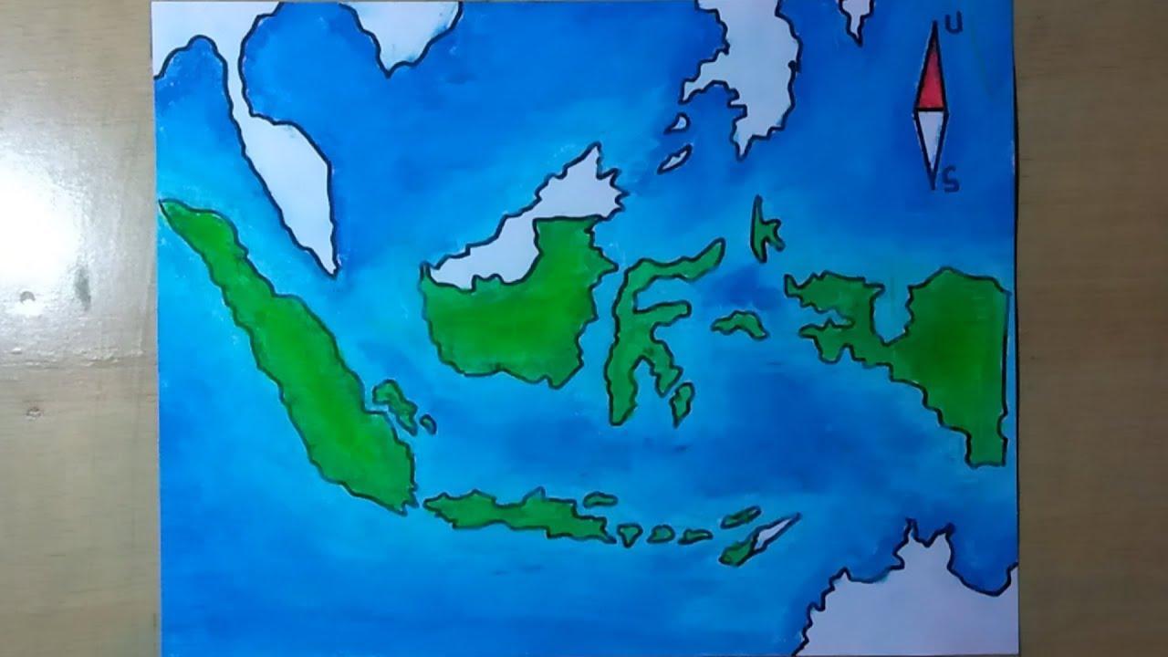 Download gambar peta indonesia untuk digambar dan diwarnai lengkap. Cara Membuat Peta Negara Indonesia Youtube