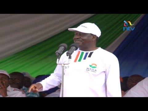Raila Odinga's full speech at the NASA campaign launch in Kakamega