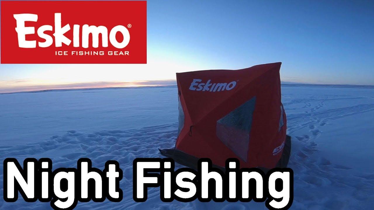 Eskimo evo1 ice fishing at night time youtube for Ice fishing at night