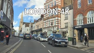 London 4K - Scenic Suburbs Drive