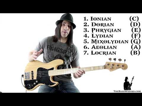 Bass Lesson - Beginner's Guide to Scales and Modes (The Bass Wizard)