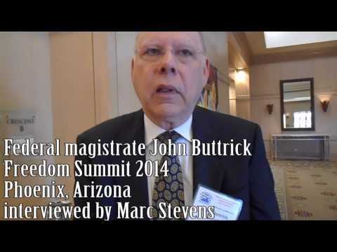 Marc Stevens Interviews Federal Magistrate John Buttrick- No Evidence Constitution Applies