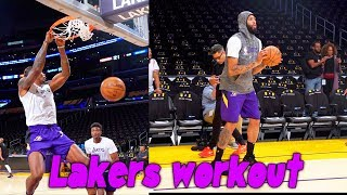 Download Lakers Workout Anthony Davis, Dwight Howard, Alex Caruso and More Mp3 and Videos