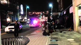 Crazy Fight Between Hippy Punks and Thugs