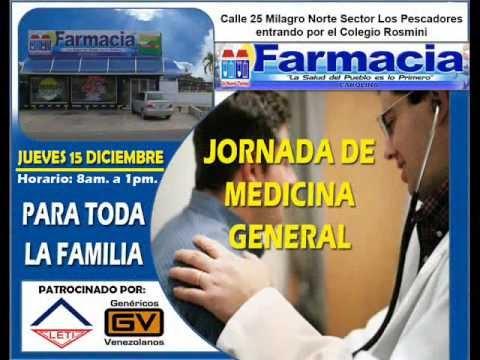 JORNADA MEDICINA GENERAL LETI Y FARMACIA CAROLINA JUEVES 15 DIC.