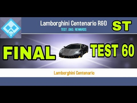 Asphalt 8 Lamborghini Centenario R D Lab 4 Test 60 Final Ultimate Al