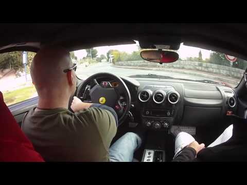 Driving a Ferrari in French Riviera