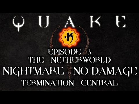 [Point Man] Quake NO DAMAGE | ALL SECRETS #E3M1 - Termination Central