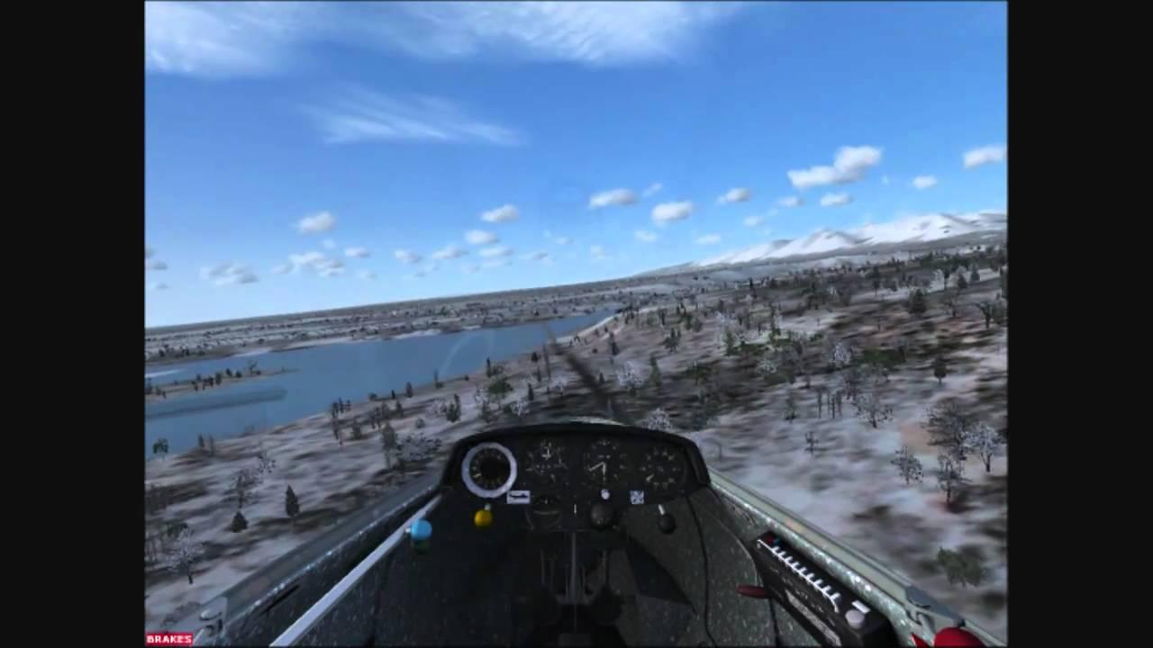 Pirate (glider) Bridge landing FSX