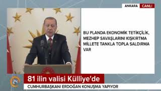 Son Dakika:Recep Tayyip Erdogan  Efsane Konuşma