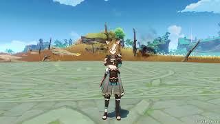 [Leaked] Gorou idles \u0026 Gameplay - Genshin Impact