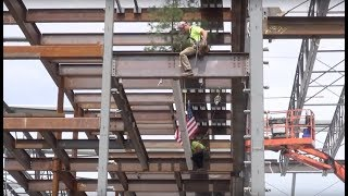 New Stoughton High Topping Off Ceremony