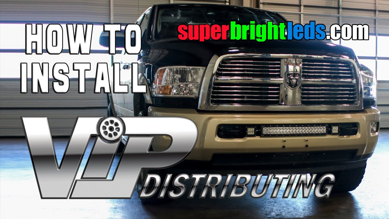 Awesome How To Install LED Curve Light Bar / Aux Lights On Truck.   YouTube