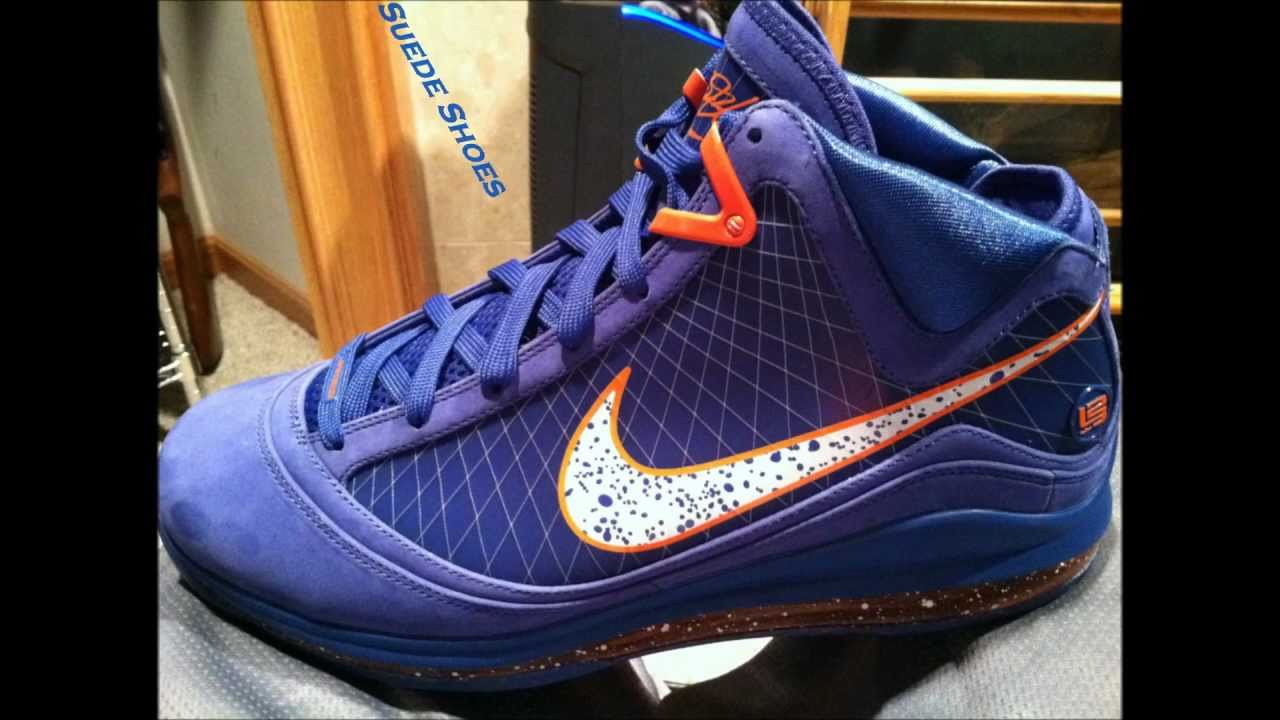 "LeBron 7 ""Hardwood Classic - Blue Suede"" ""dunk contest ..."