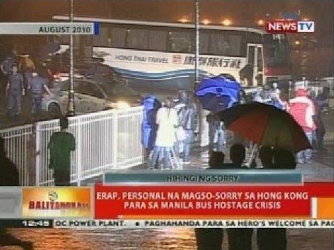 BT: Erap, personal na magso-sorry sa Hong Kong para sa Manila bus hostage crisis