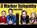 3 MARKER Telepathy Challenge😂