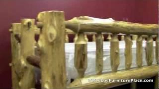 Cedar Lake Twin Over Twin Log Bunk Bed From Logfurnitureplace.com