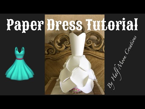 How to make Paper Dress white large