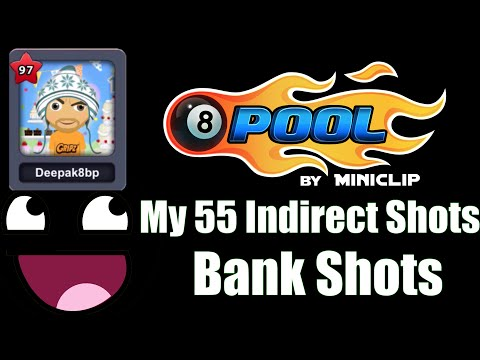 8 Ball Pool My 55 Indirect Bank Shots Berlin Jakarta Hongkong etc