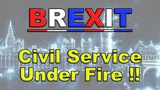 💼Civil Service Impartiality Over Brexit Now in Serious Question!💼