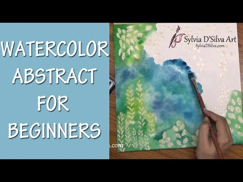 Abstract watercolor painting (with voiceover)