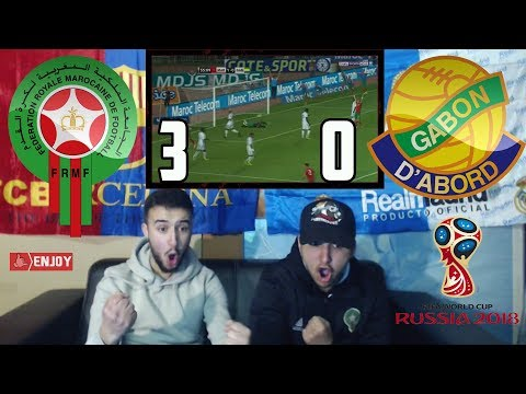 MOROCCO TO 2018 WORLD CUP ??!! MOROCCO 3-0 GABON - LIVE REACTION